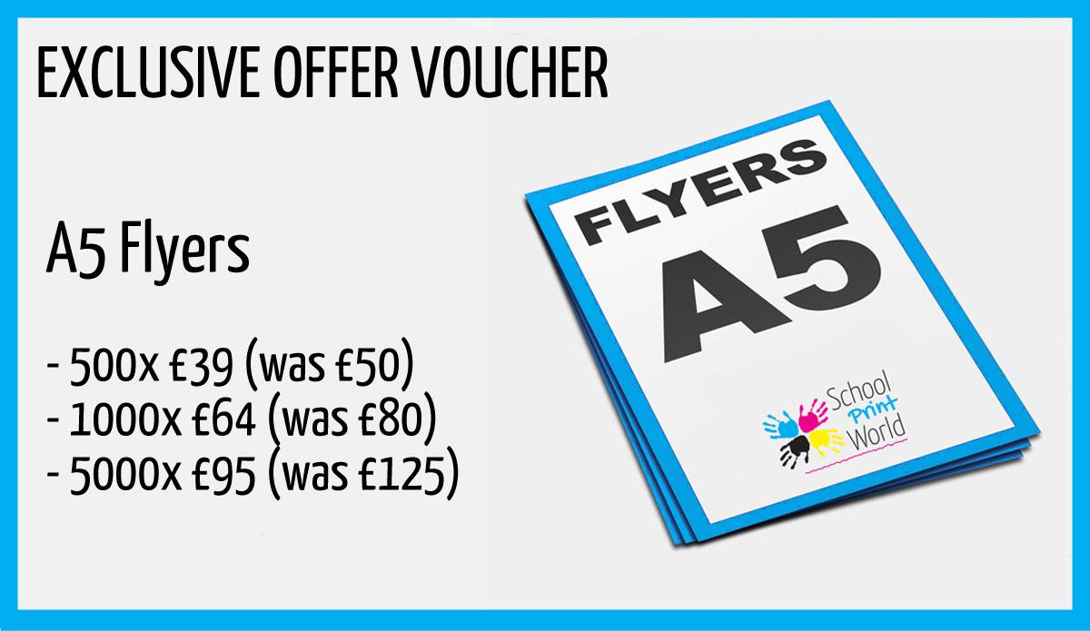 a5 flyer voucher