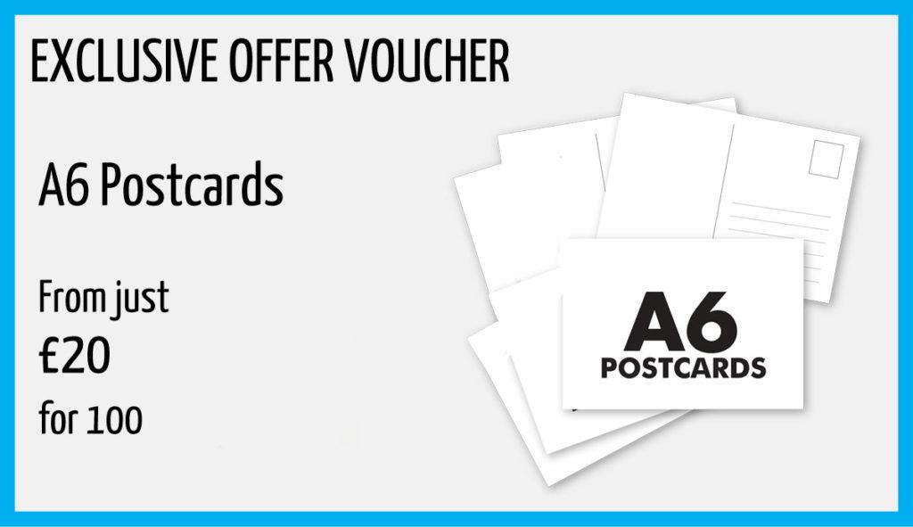 A6 postcard printing offer