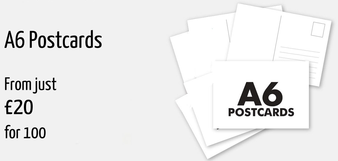 A6 postcard printing offer